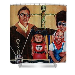 No Outside Realities Shower Curtain