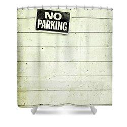No Parking Shower Curtain by Priska Wettstein