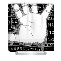 No Pictures Shower Curtain by ISAW Gallery
