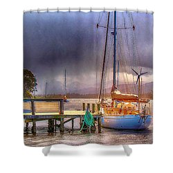 No Sailing Today Shower Curtain by Wallaroo Images