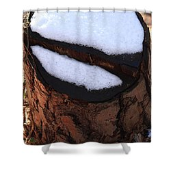 No Snow Sign  Shower Curtain by Kim Henderson