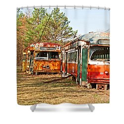 No Stops Shower Curtain by Michael Porchik