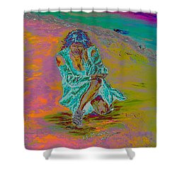 Shower Curtain featuring the painting No Surrender by Loredana Messina