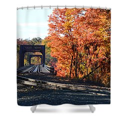 No Train Coming Shower Curtain