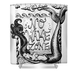 No Wake Zone, Mermaid Shower Curtain