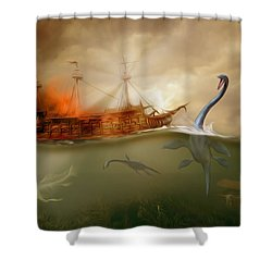 No Way Out Shower Curtain by Surreal Photomanipulation