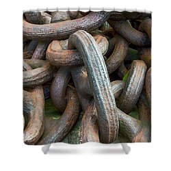 No Weak Links Shower Curtain by Brian Wallace