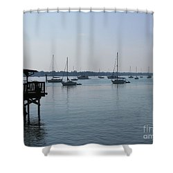 Shower Curtain featuring the photograph No Wind by Greg Patzer