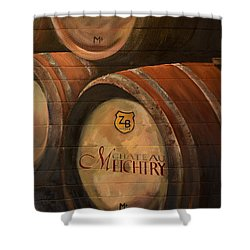 No Wine Before It's Time - Barrels-chateau Meichtry Shower Curtain