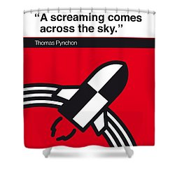 No003 My Gravitys Rainbow Book Icon Poster Shower Curtain