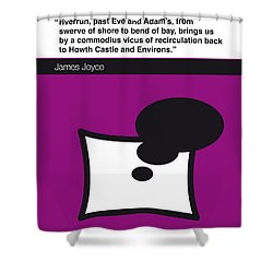 No007 My Finnegans Wake Book Icon Poster Shower Curtain