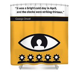 No008 My 1984 Book Icon Poster Shower Curtain