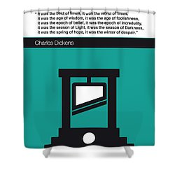 No009 My Tale Of Two Cities Book Icon Poster Shower Curtain