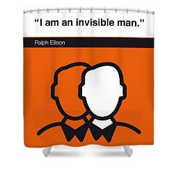 No010-my-invisible Man-book-icon-poster Shower Curtain by Chungkong Art