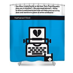 No011-my-miss Lonelyhearts-book-icon-poster Shower Curtain