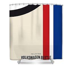 No014 My Herbie Minimal Movie Car Poster Shower Curtain