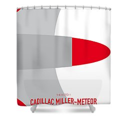 No015 My Ghostbusters Minimal Movie Car Poster Shower Curtain