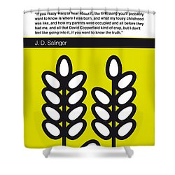 No016-my-the Catcher In The Rye-book-icon-poster Shower Curtain