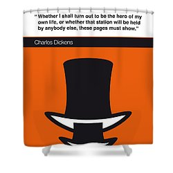 No020-my-david Copperfield-book-icon-poster Shower Curtain
