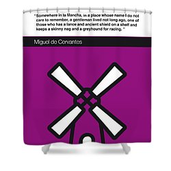 No027-my-don Quixote-book-icon-poster Shower Curtain