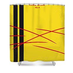 No049 My Kill Bill-part2 Minimal Movie Poster Shower Curtain by Chungkong Art
