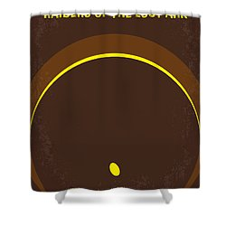 No068 My Raiders Of The Lost Ark Minimal Movie Poster Shower Curtain by Chungkong Art
