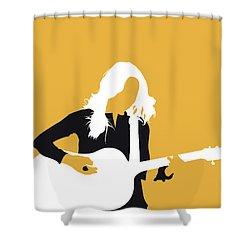 No074 My Sheryl Crow Minimal Music Poster Shower Curtain