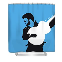No089 My George Michael Minimal Music Poster Shower Curtain