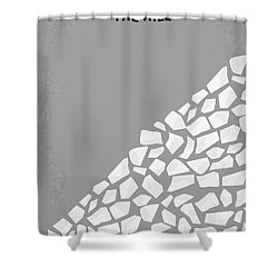 No091 My The Hill Minimal Movie Poster Shower Curtain by Chungkong Art