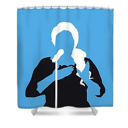 No099 My Adele Minimal Music Poster Shower Curtain