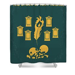 No101-5 My Hp - Order Of The Phoenix Minimal Movie Poster Shower Curtain by Chungkong Art