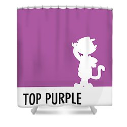 No11 My Minimal Color Code Poster Top Cat Shower Curtain
