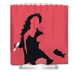 No122 My Beyonce Minimal Music Poster Shower Curtain
