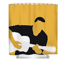 No124 My Howlin Wolf Minimal Music Poster Shower Curtain