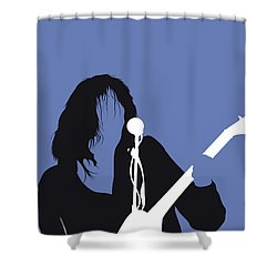 No128 My Neil Young Minimal Music Poster Shower Curtain
