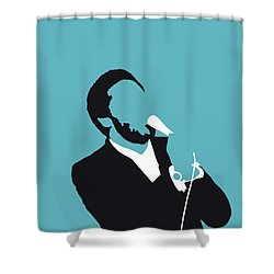 No135 My Al Green Minimal Music Poster Shower Curtain