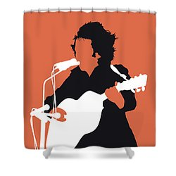 No143 My Don Mclean Minimal Music Poster Shower Curtain