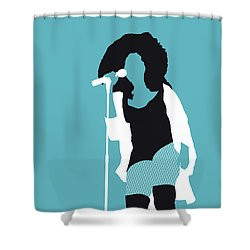 No155 My Chaka Khan Minimal Music Poster Shower Curtain