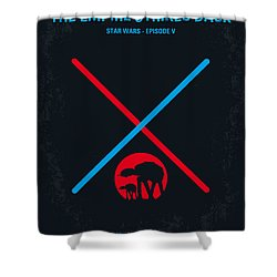 No155 My Star Wars Episode V The Empire Strikes Back Minimal Movie Poster Shower Curtain