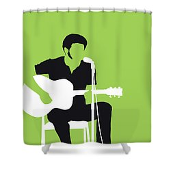 No156 My Bill Withers Minimal Music Poster Shower Curtain