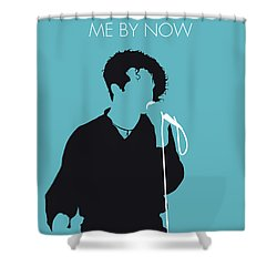 No165 My Simply Red Minimal Music Poster Shower Curtain