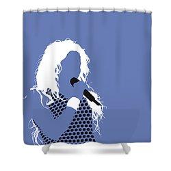 No168 My Shakira Minimal Music Poster Shower Curtain