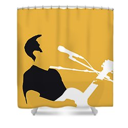No174 My Jack Johnson Minimal Music Poster Shower Curtain
