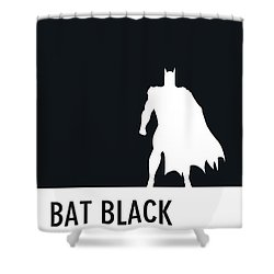 No20 My Minimal Color Code Poster Batman Shower Curtain
