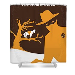 No202 My The Lone Ranger Minimal Movie Poster Shower Curtain by Chungkong Art