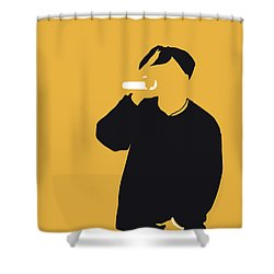 No204 My 2pac Minimal Music Poster Shower Curtain