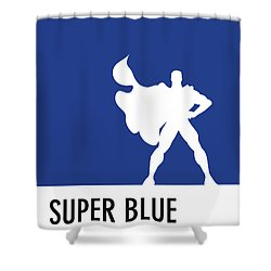 No23 My Minimal Color Code Poster Superman Shower Curtain