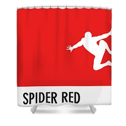 No24 My Minimal Color Code Poster Spiderman Shower Curtain