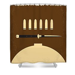 No318 My Rebel Without A Cause Minimal Movie Poster Shower Curtain