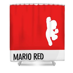 No33 My Minimal Color Code Poster Mario Shower Curtain